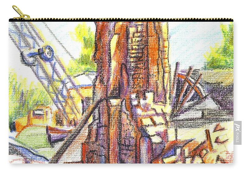 Wrecking Ball Carry-all Pouch featuring the painting Wrecking Ball by Kip DeVore