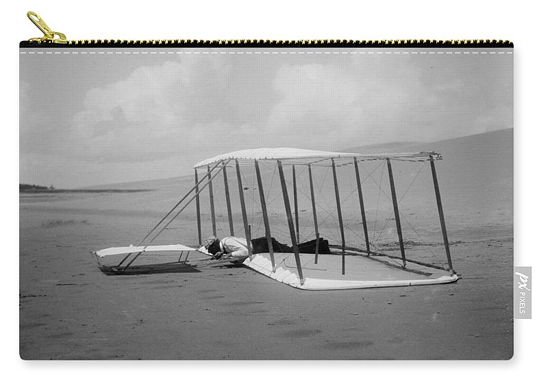 Wright Brothers Carry-all Pouch featuring the photograph Wright Brothers 1 by Andrew Fare