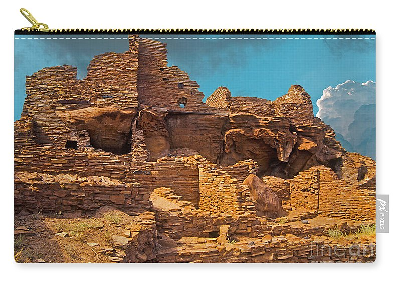 Landscape Carry-all Pouch featuring the photograph Wupatki Pueblo by Richard and Ellen Thane