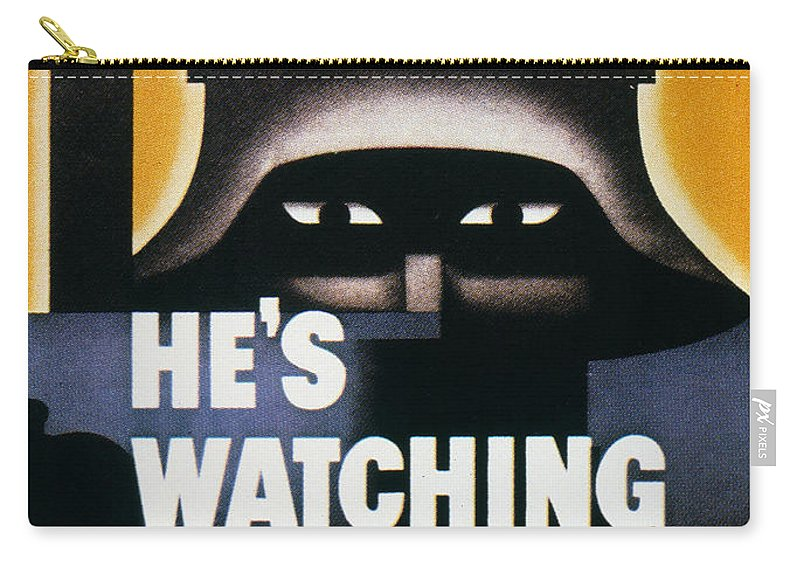 1942 Carry-all Pouch featuring the photograph Wwii: Propaganda Poster by Granger