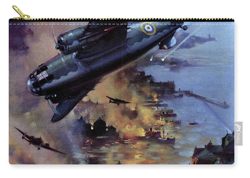 1942 Carry-all Pouch featuring the drawing Wwii Royal Air Force, C1942 by Granger