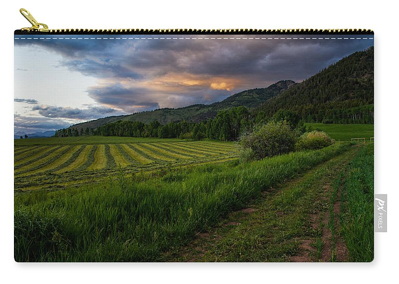 Star Valley Carry-all Pouch featuring the photograph Wyoming Pastures by Chad Dutson