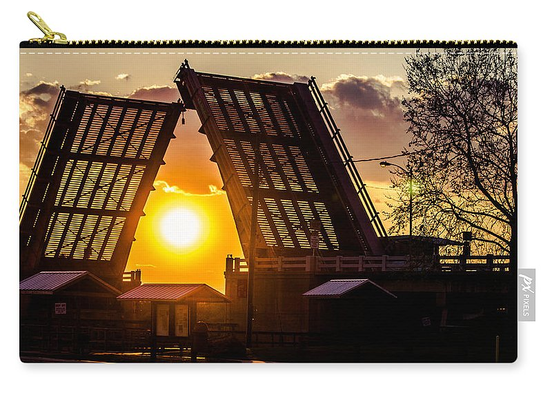 Drawbridge Carry-all Pouch featuring the photograph X-ray Vision by Tyson Kinnison