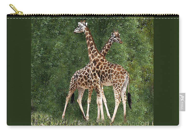 Giraffe Carry-all Pouch featuring the photograph X by Sheila Laurens