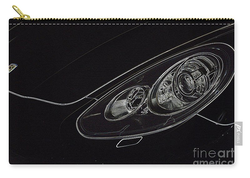 Porsche Carry-all Pouch featuring the digital art Porsche 2 by Wendy Wilton