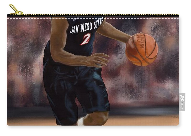 Xavier Thames Carry-all Pouch featuring the digital art X by Jeremy Nash