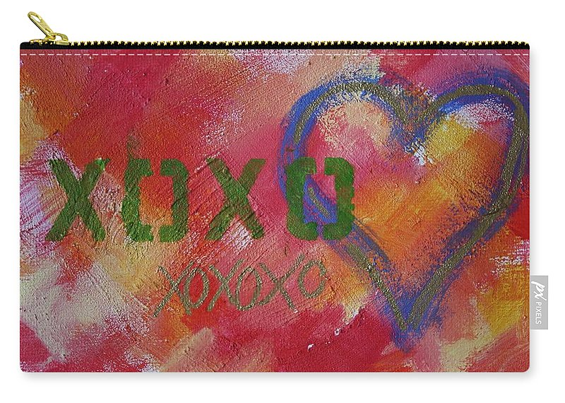 Love Carry-all Pouch featuring the mixed media Xoxo by Sarah Vandenbusch