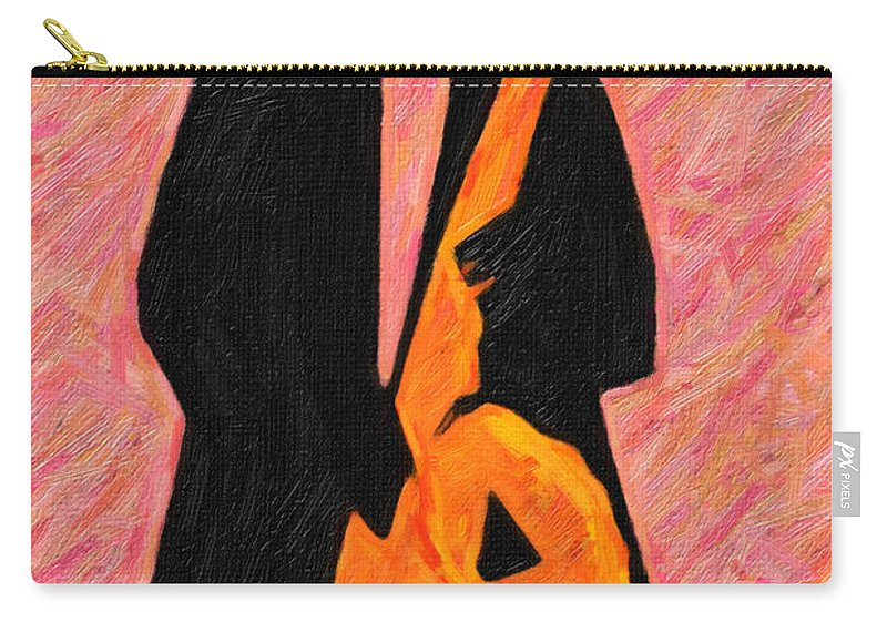 Sax Carry-all Pouch featuring the digital art Xtra Large Sax by Terry Fiala