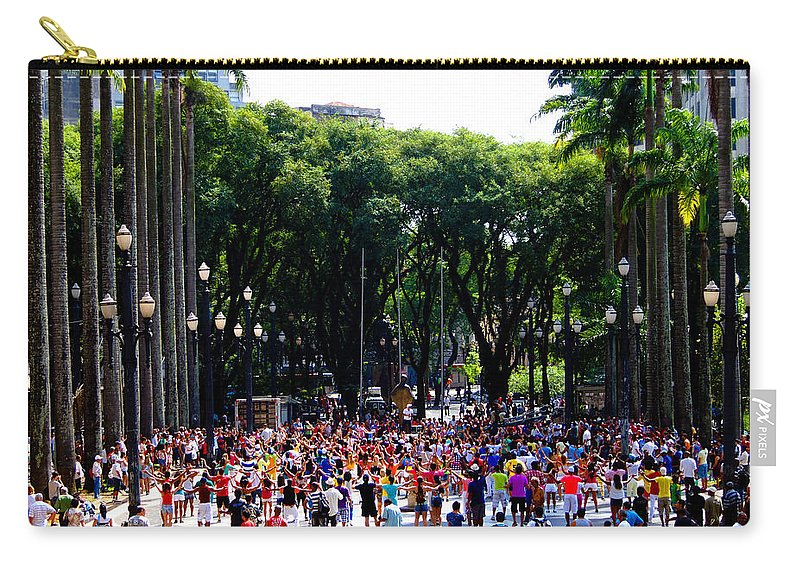 Xuxa Carry-all Pouch featuring the photograph Xuxa's Birthday Celebration - Sao Paulo by Julie Niemela