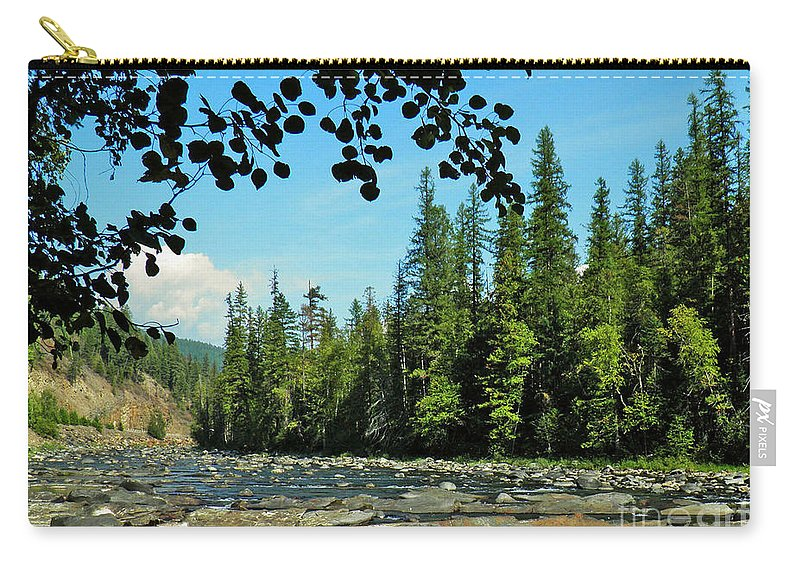 Landscape Carry-all Pouch featuring the photograph Yaak River by Tonya P Smith