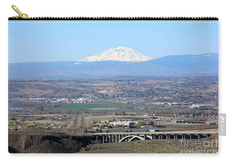 Yakima Valley Carry-all Pouch featuring the photograph Yakima Valley Outlook With Mount Adams by Carol Groenen