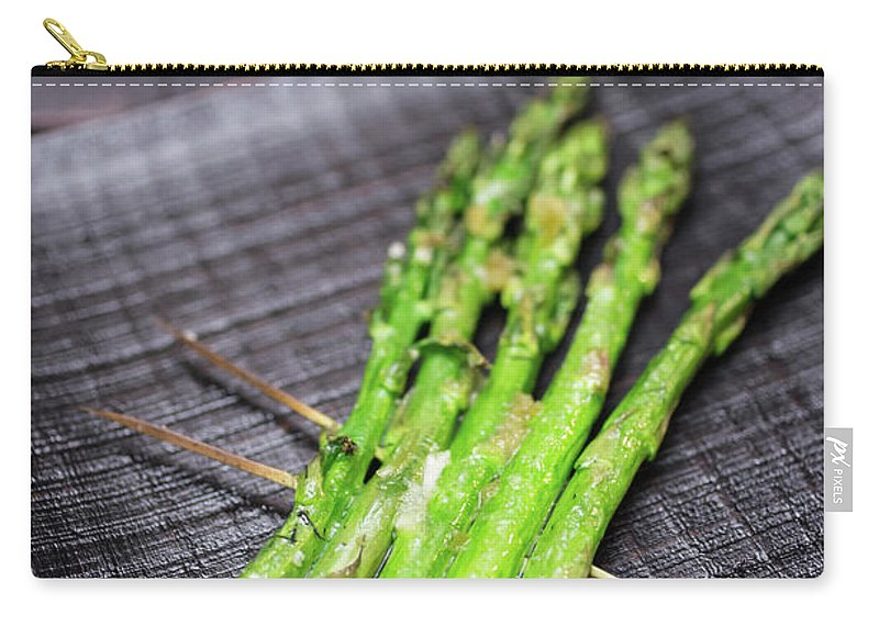 Serving Dish Carry-all Pouch featuring the photograph Yakitori Asparagus by Katya Lyukum