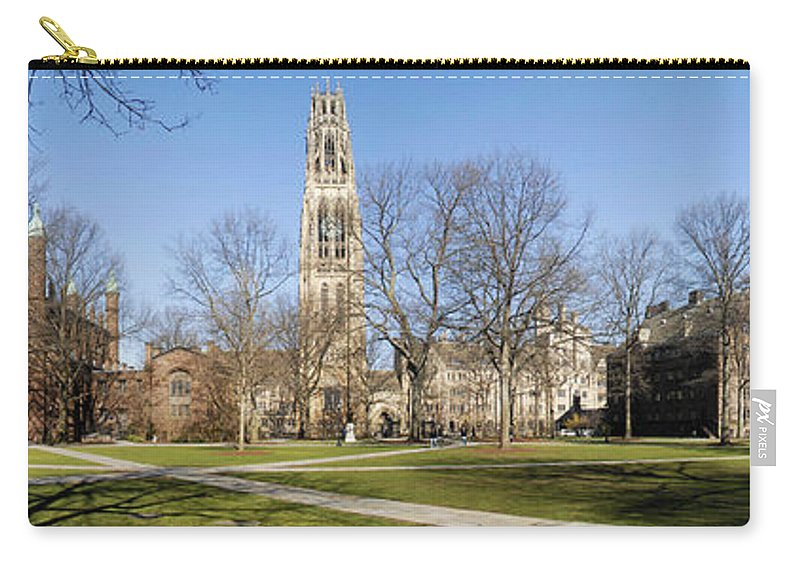 Yale Carry-all Pouch featuring the photograph Yale University by Georgia Fowler