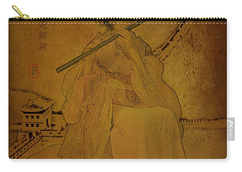 Female Carry-all Pouch featuring the photograph Yang Plays The Flute by Doug Matthews