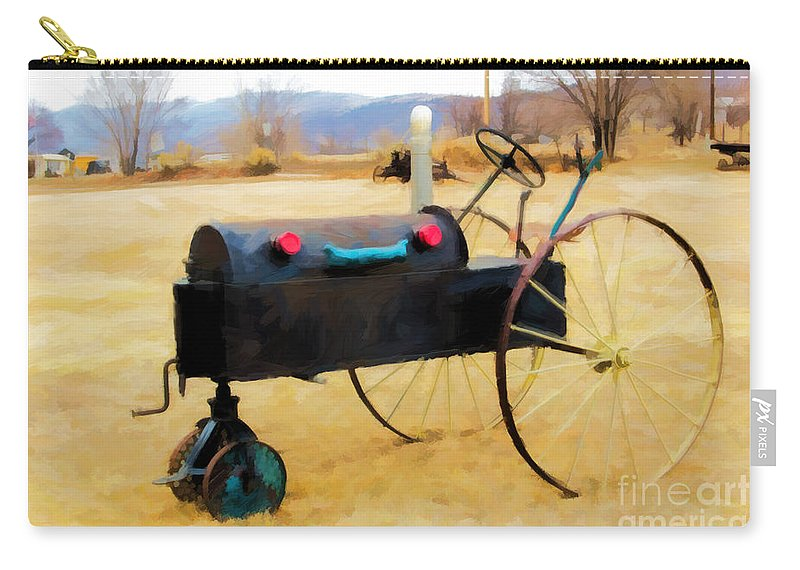 Tractor Carry-all Pouch featuring the photograph Yard Art by Jon Burch Photography