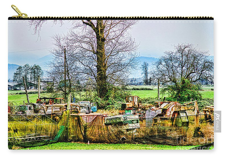 Junk Carry-all Pouch featuring the photograph Yard Of Scrap by Randy Harris
