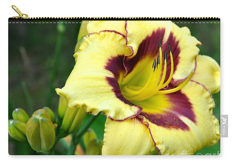 Lily Carry-all Pouch featuring the photograph Yawning Lily by Christina McKinney
