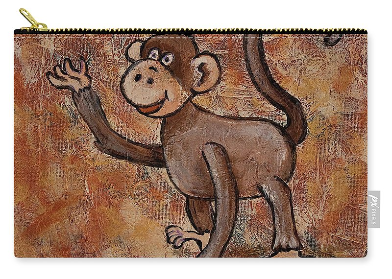 Animal Carry-all Pouch featuring the painting Year Of The Monkey by Darice Machel McGuire