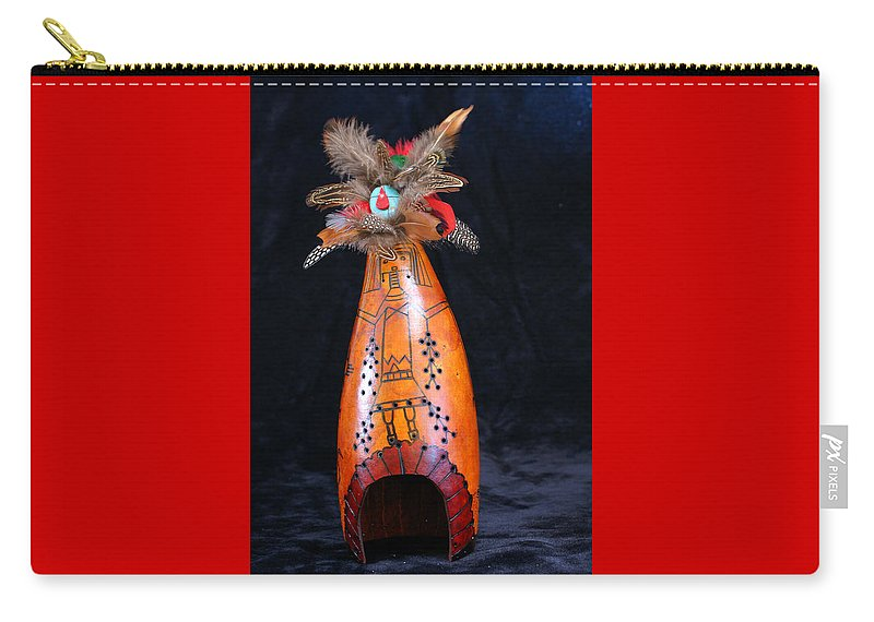 Carry-all Pouch featuring the mixed media Yeii Spirit Gourd by Rochleigh Z Wholfe