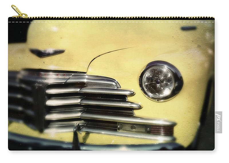 Classic Carry-all Pouch featuring the photograph Yellow 47 Chevrolet by Tim Nyberg