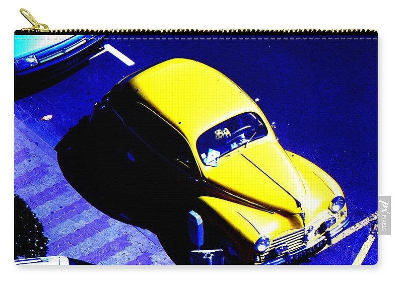 Car Carry-all Pouch featuring the photograph Yellow Car by Guy Pettingell