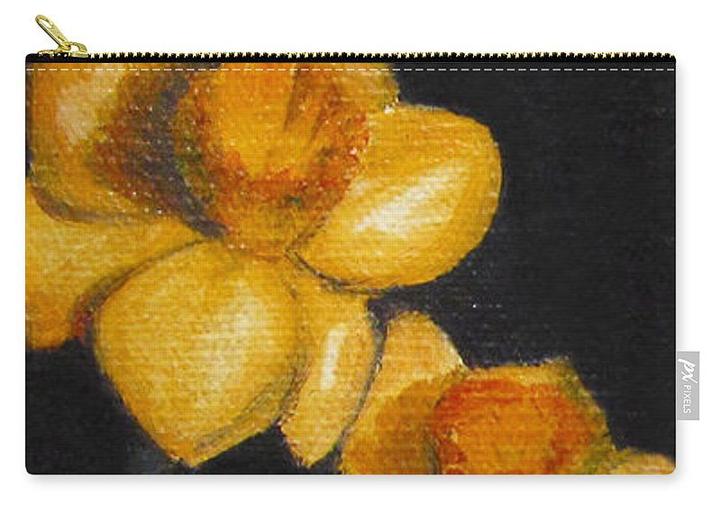 Still Life Carry-all Pouch featuring the painting Yellow Daffodils by Sarah Parks