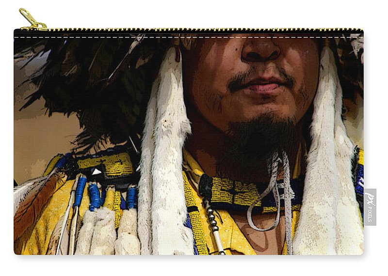 Pow Wow Carry-all Pouch featuring the photograph Yellow Dancer by Joe Kozlowski
