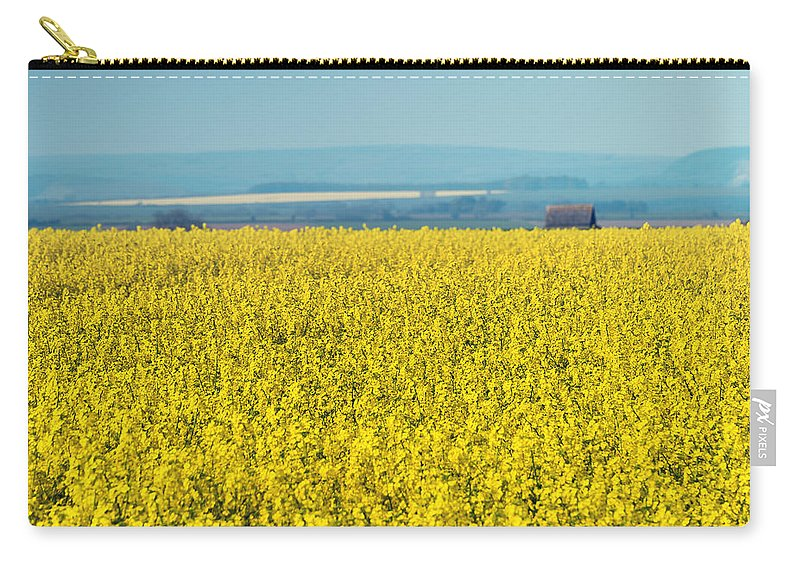 Bloom Carry-all Pouch featuring the photograph Yellow Field by Svetlana Sewell