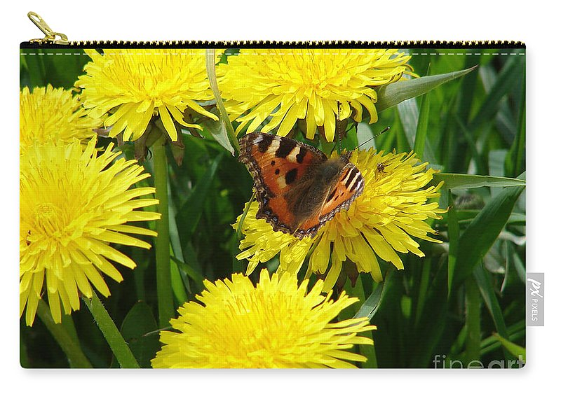 Butterfly Carry-all Pouch featuring the photograph Yellow Flowers by Carol Lynch