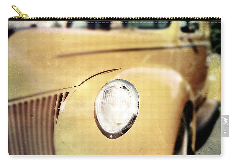 Classic Carry-all Pouch featuring the photograph Yellow Gangsta Street Rod by Tim Nyberg