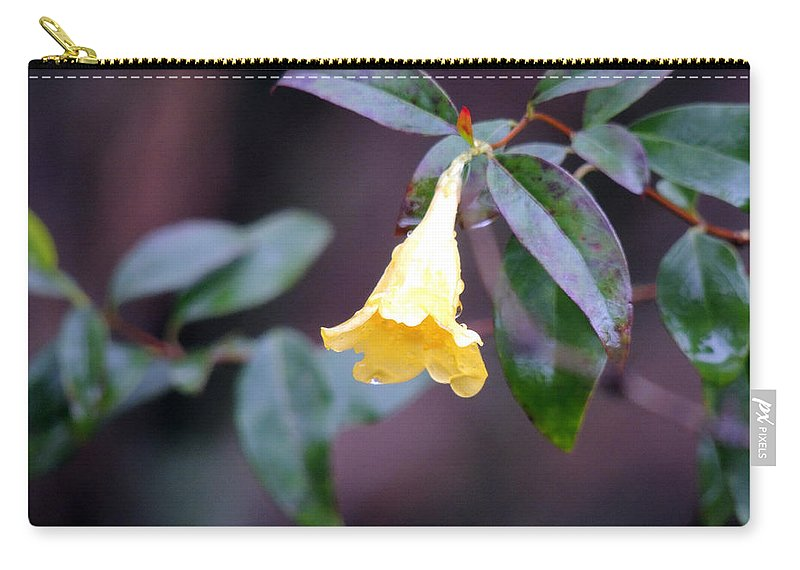 Yellow Green And Red Carry-all Pouch featuring the photograph Yellow Green And Red by Kim Pate