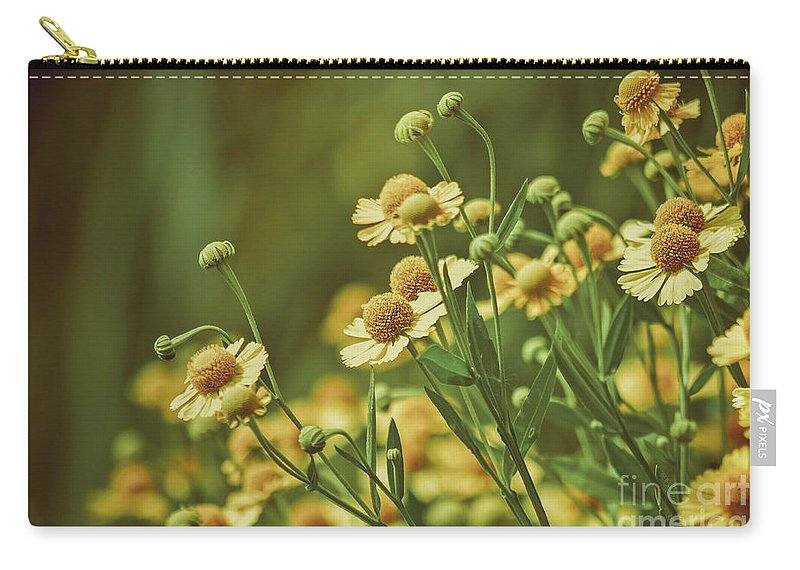 Yellow Carry-all Pouch featuring the photograph Yellow Green by Bethany Helzer
