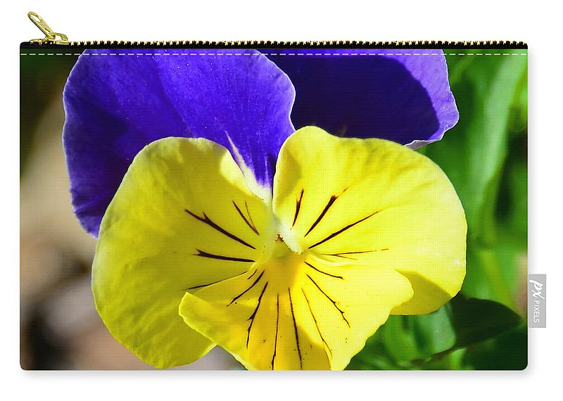 Yellow Heart Carry-all Pouch featuring the photograph Yellow Heart by David Lee Thompson