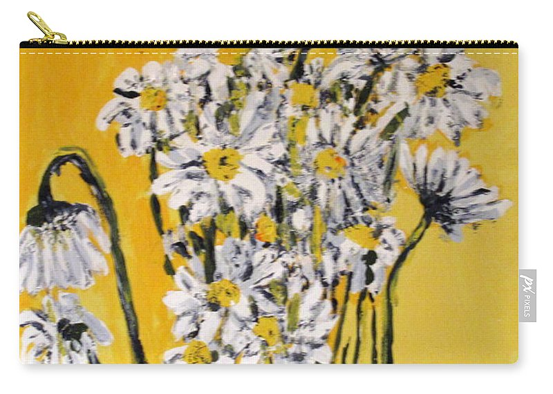 Daisy Carry-all Pouch featuring the painting Yellow by Ian MacDonald