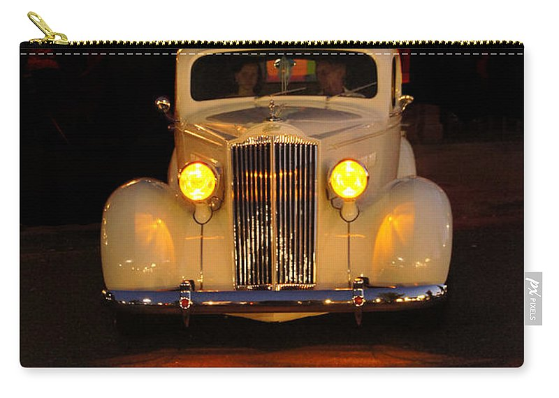 Back To The 50s Carry-all Pouch featuring the photograph Yellow Lights At Celebration by Mick Anderson