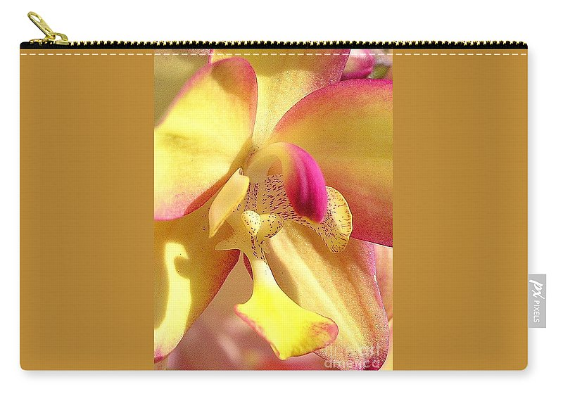 Yellow Carry-all Pouch featuring the photograph Yellow Pink Orchid by Mary Deal