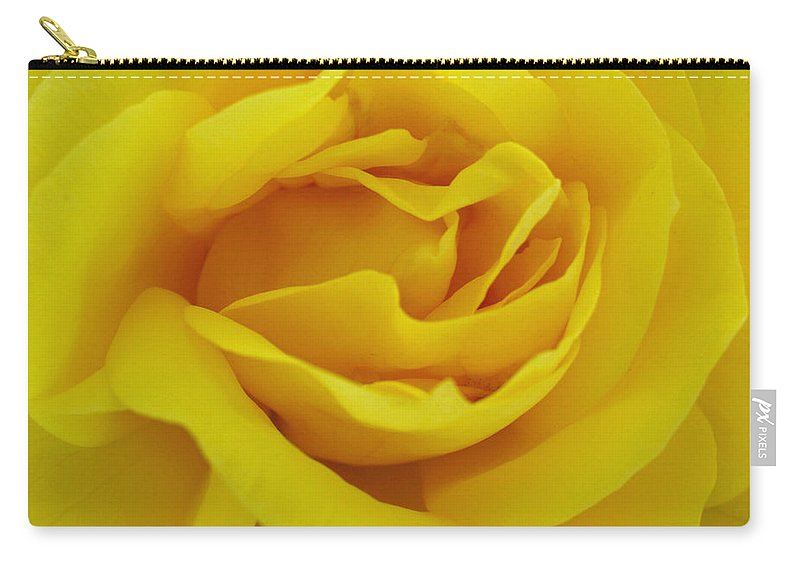 Beautiful Carry-all Pouch featuring the digital art Yellow Rose by Jacklyn Duryea Fraizer