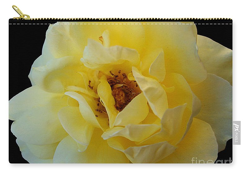 Yellow Carry-all Pouch featuring the photograph Yellow Rose by Nina Ficur Feenan