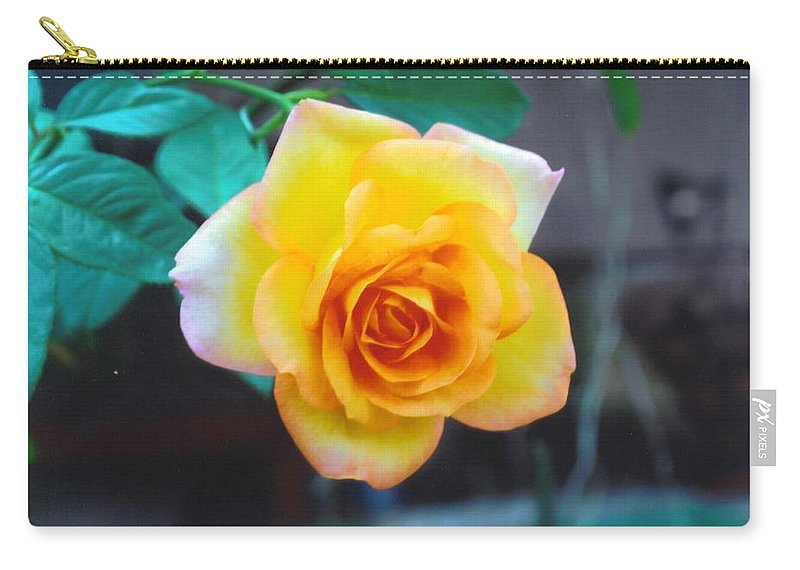 Home Grown Carry-all Pouch featuring the photograph Yellow Rose by Robert Floyd