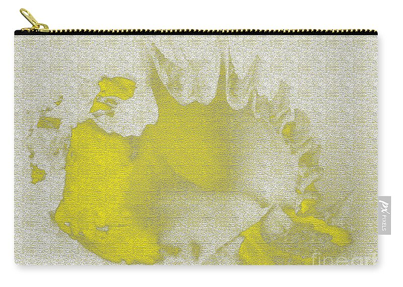 Yellow Carry-all Pouch featuring the digital art Yellow Shell by Carol Lynch