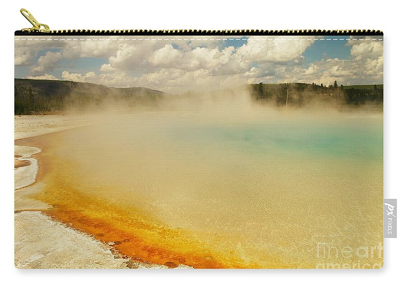 Hot Springs Carry-all Pouch featuring the photograph Yellowstone Hot Springs by Jeff Swan