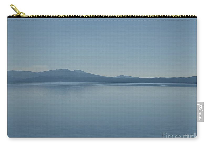 Lake Carry-all Pouch featuring the photograph Yellowstone Lake by Jacklyn Duryea Fraizer