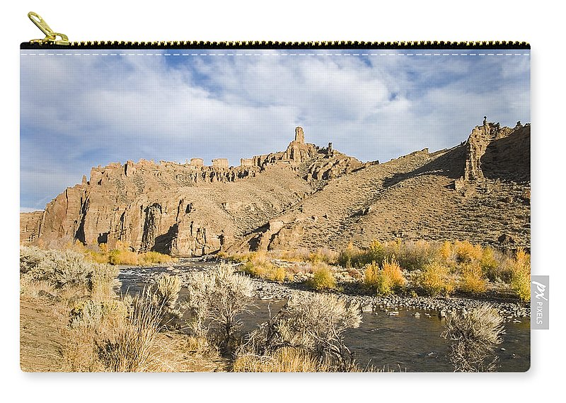 Yellowstone Carry-all Pouch featuring the photograph Yellowstone by Muhie Kanawati