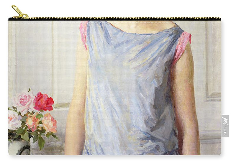 Yes Carry-all Pouch featuring the painting Yes Or No by William Henry Margetson