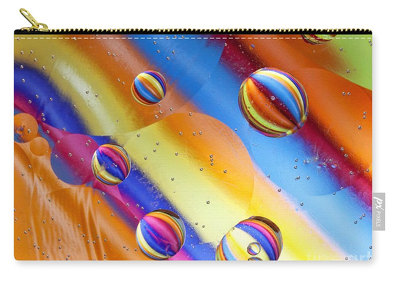 Macro Carry-all Pouch featuring the photograph Yikes Stripes by Claudia Kuhn
