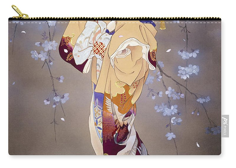 Haruyo Morita Carry-all Pouch featuring the digital art Yoi by MGL Meiklejohn Graphics Licensing