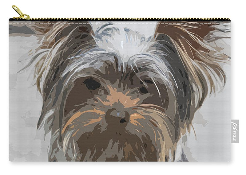 Dogs Carry-all Pouch featuring the photograph Yorki by Jivko Nakev