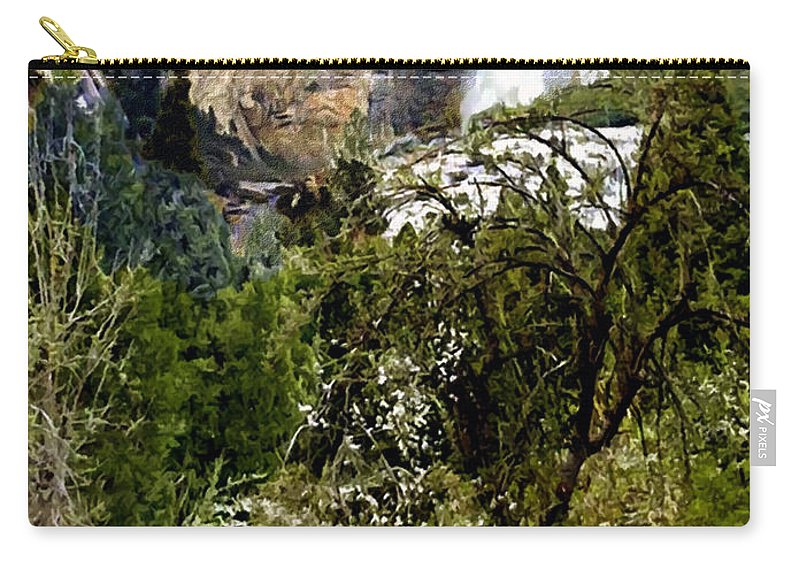 Yosemite National Park Carry-all Pouch featuring the painting Yosemite Apple Orchard by Bob and Nadine Johnston