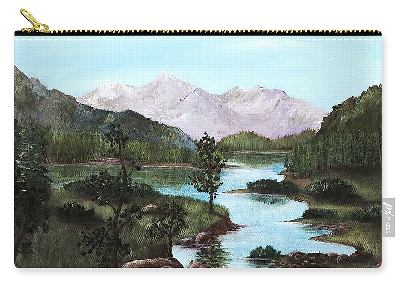 Interior Carry-all Pouch featuring the painting Yosemite Meadow by Anastasiya Malakhova