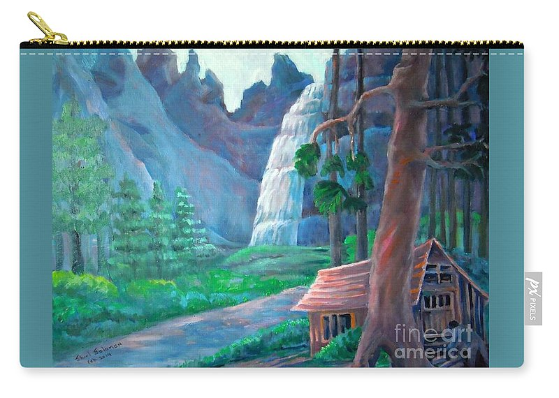 Scenic Carry-all Pouch featuring the painting American Beauty Yosemite by Shirl Solomon